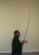 fishing rod flexed