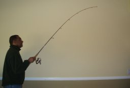 fishing rod to vertical